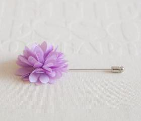 KAYLA-Lavender Men's flower Boutonniere / Buttonhole for wedding,Lapel pin,tie pin