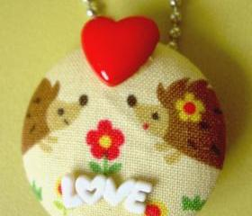 Pockies In Love -  Pendant / Necklace / Brooch 