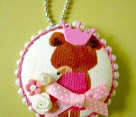 Your Beary Highness -  Pendant / Necklace / Brooch 