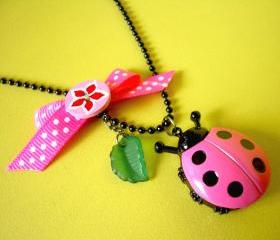 Petit Cutie Ladybug -  Watch Locket With Necklace 