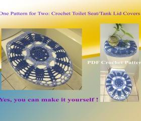 One Pattern for Two - Toilet Seat Cover & Toilet Tank Lid Cover (2VC2013)