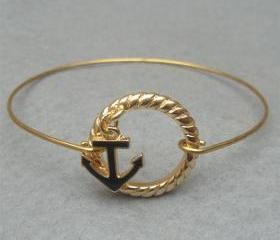 Anchor Bangle Bracelet Style 4