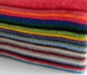 24x Multi Pack Rainbow Acrylic Felt Sheets