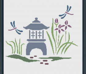 Japanese Garden Cross Stitch Pattern