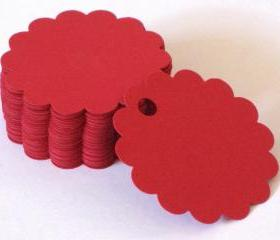 50 Round Scallop Die Cuts
