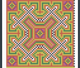 Hill Tribe Cross Stitch Pattern