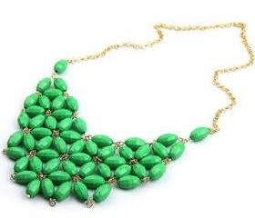 New Women Alloy Resin Bubble Fashion Bib Necklace not process order until 22nd Fed 2013