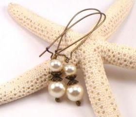 Swarovski Pearl Earrings.