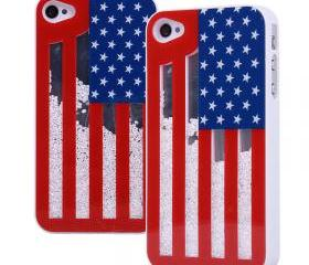 Fashion Sliding the Stars and the Stripes Hard Cover Case For Iphone 4/4s