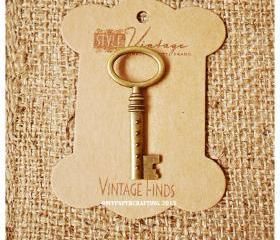 Oval Ring Key Brass Charm Metal