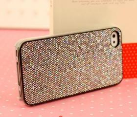 Shinning Flickering Hard Back Case Cover Skin for Iphone 4/4s-grey