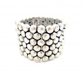 Retro Silver Dotted Cuff