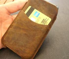 Genuine Leather Sleeve Case Wallet for iPhone 4/4S