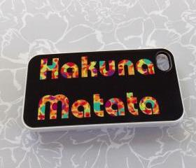 Hakuna Matata iPhone 4 iPhone 4S Case Decorative White Plastic Case