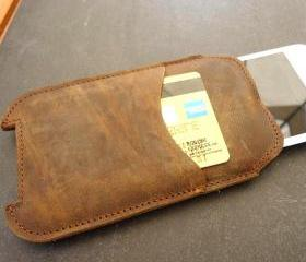 Genuine Leather Sleeve Case Wallet for iPhone 5
