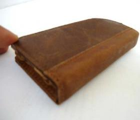 Genuine Leather Book Case Wallet for iPhone 4/4S