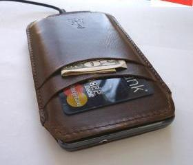 Genuine Leather Sleeve Case Wallet for Samsung Galaxy S1