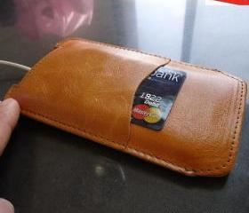 Genuine Leather Sleeve Case Wallet for Samsung Galaxy Note