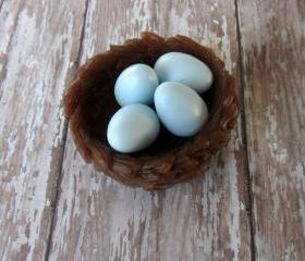 Bird Nest and Robin Eggs Lily of the Valley Soap