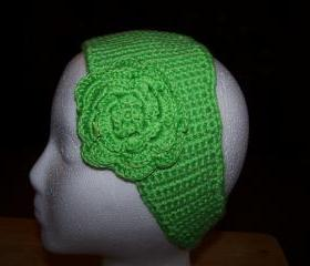 Green Crochet Ear Warmer(FREE SHIPPING)