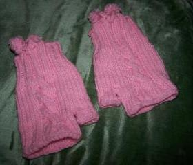 Pink Fingerless Gloves(FREE SHIPPING)