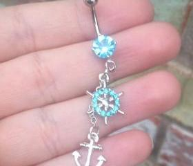 Anchor Belly Ring