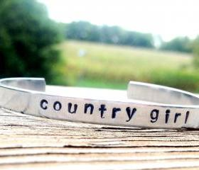 Hand Stamped Bracelet