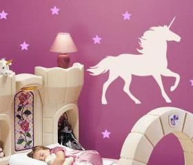 Unicorn and Stars Wall Decal