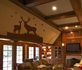 Deer Scene Vinyl Wall Decal