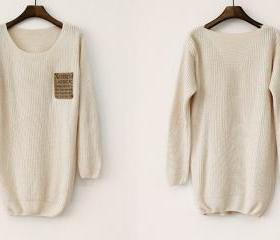Loose Beige Sweater