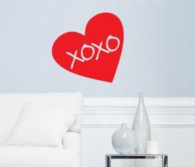 Heart (love) Hugs and Kisses Vinyl Wall Decal 23'x23'