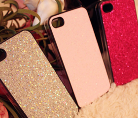 Flickering Shinning Pink Case Cover Skin for iPhone4 4S #1