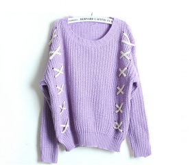 Vintage Sweet Color in Purple Sweater