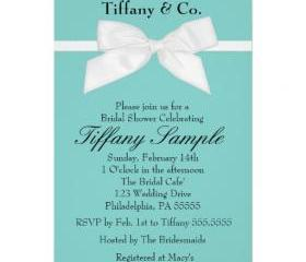 Bridal Shower Tiffany 2 Invitation( Digital File ) 