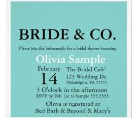 Bridal Shower Tiffany 3 Invitation( Digital File )