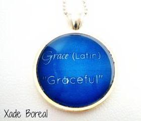 Name Meaning Necklace, GRACE
