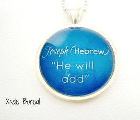 Name Meaning Necklace, JOSEPH