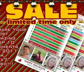 SALE - Christmas Card Digital - Top 10 Events of 2011