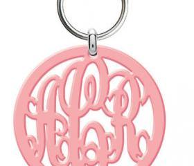 Monogram Acrylic Keychain
