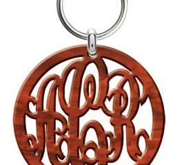 Monogram Acrylic Keychain Tortoise Shell