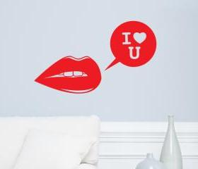 I love you Vinyl Wall Decal 22'x36'