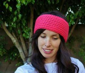 Hot Pink Knit Style Earwarmer
