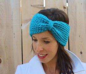 Turquoise Winter Chunky Turban Headband