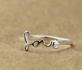 925 Silver Love Rings for Women
