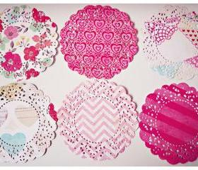 6 Parisian Lace Doily Fourteen Mixed pattern paper / pack 