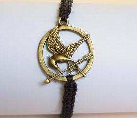 The Hunger Games Bracelet - Gift for Him - Gift under 15 - Valentine Gift - Mockingjay Bracelet