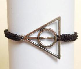 Harry Potter Deathly Hallows Bracelet - Gift for Him - Gift under 15