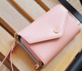 Smart Crown Style Pouch Wallet for multi Purpose in Pink