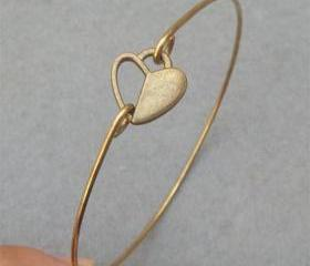 Heart Bangle Bracelet Style 18