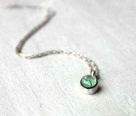 Sterling silver Necklace - Abalone shell Necklace - sterling silver jewelry handmade, unique gifts